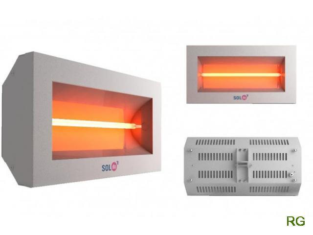 Aquecedor SOLTECHA por Infra-Vermelhos Modelos SolDO de 1500W