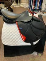 Stubben S Zaria Optimum Saddle - 18/27cm - Black/Red #182
